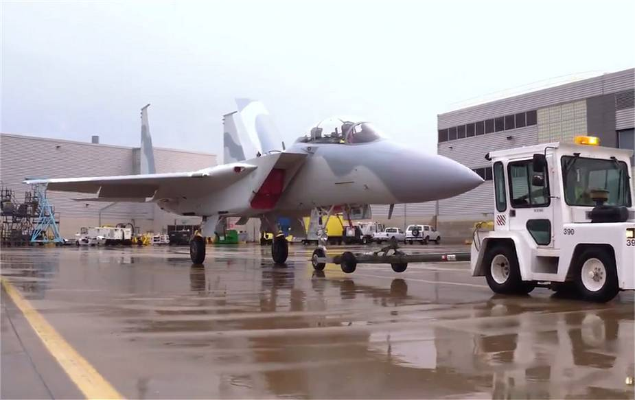Boeing showcases F 15QA fighter aircraft painted in Qatar Air Force colors 925 001