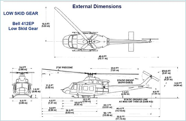 Bell 412EPI utility helicopter technical data sheet specifications intelligence description information identification pictures photos images video United States American US USAF Air Force aviation aerospace defence industry military technology