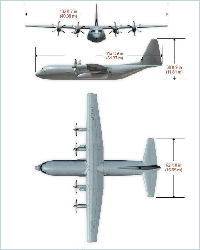C-130J Super Hercules technical data sheet specifications intelligence description information identification pictures photos images video United States American US USAF Air Force defence industry military technology