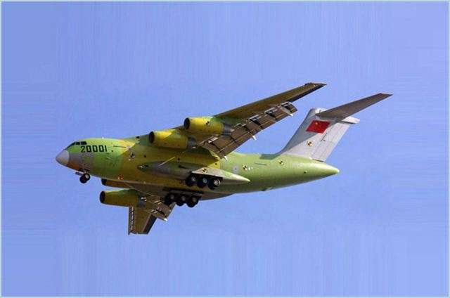 The country's first jumbo airfreighter is set for take-off into official service, its chief designer said weeks after its successful maiden test flight. When fitted with Chinese-designed and manufactured engines, the Yun-20, or Transport-20, will have a greater take-off weight, longer fuselage and carry more cargo, said Tang Changhong, who has led the design team of the jumbo aircraft since 2007.