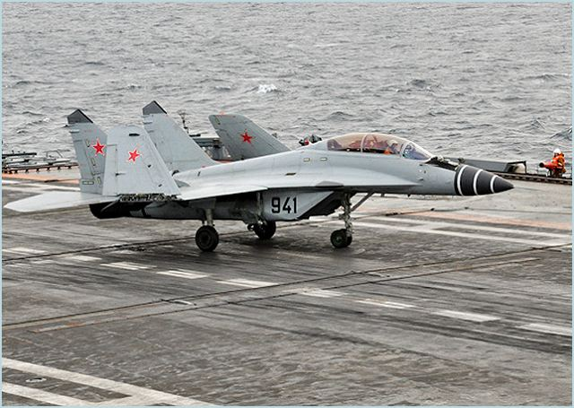 The Russian Defense Ministry has signed a contract with aircraft maker MiG for the delivery of 20 MiG-29K and four MiG-29KUB carrier-based fighter aircraft, MiG said on Wednesday, February 29, 2012.