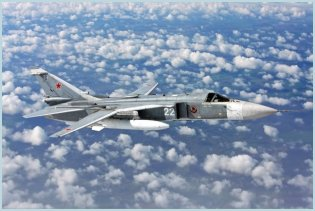 Su-24 attack aircraft interdictor technical data sheet specifications intelligence description information identification pictures photos images video Sukhoi Russia Russian Air Force aviation air defence industry military technology