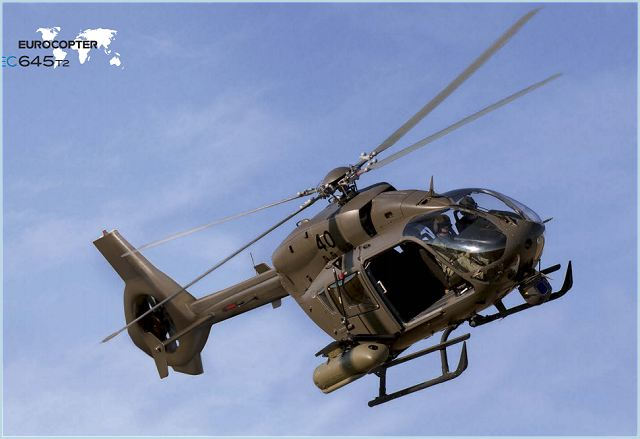 EC645 T2 Light Battlefield Support Helicopter technical data sheet specifications intelligence description information identification pictures photos images video France French Air Force aviation aerospace Eurocopter defence industry military technology