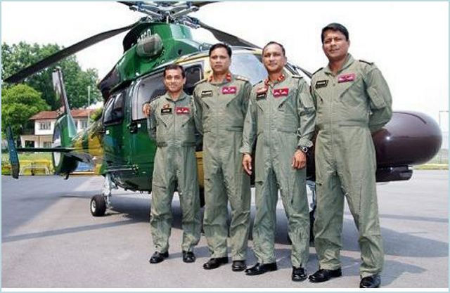 From left to right: 1. Lieutenant Colonel Md Saidur Rahman 2. Colonel Alamgir Hossain 3. Brigadier General Abdullah-Al-Azhar 4. Lieutenant Colonel Muhammad Hasan Imam Farazi (© Copyright Eurocopter South East Asia, Photographer : Kiw Hui Bin).