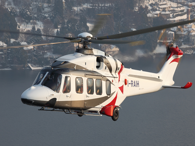 AgustaWestland, a Finmeccanica company, is pleased to announce that the first production AW189 8 tonne class twin engine helicopter performed its maiden flight at Vergiate plant (Italy) today. The aircraft is expected to be delivered to Bristow Helicopters Ltd. by year end to carry out offshore transport missions in the North Sea, with operational readiness planned in early 2014. Additional two AW189 helicopters are currently under assembly in Vergiate.