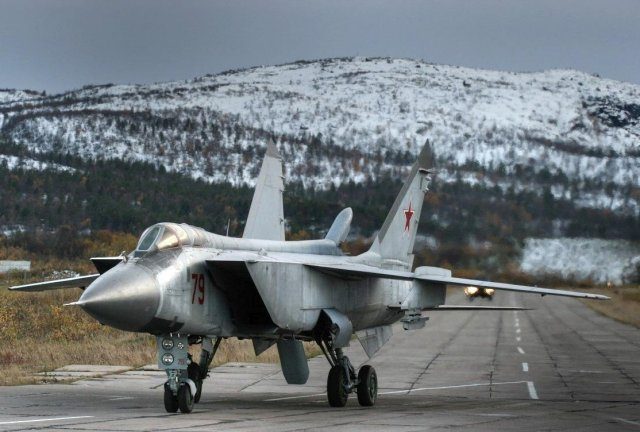 Three upgraded MiG 31BM interceptor aircraft delivered to Far East Russian Air Force regiment 640 001