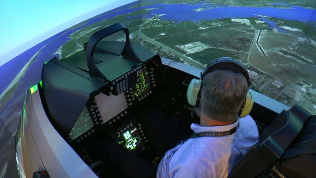 Boeing completes upgrade of USAF F 22 simulators with its Constant Resolution Visual System 640 001