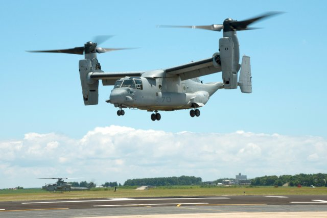 US flies first MV 22B Osprey outfitted with 3 D printed critical parts 640 001