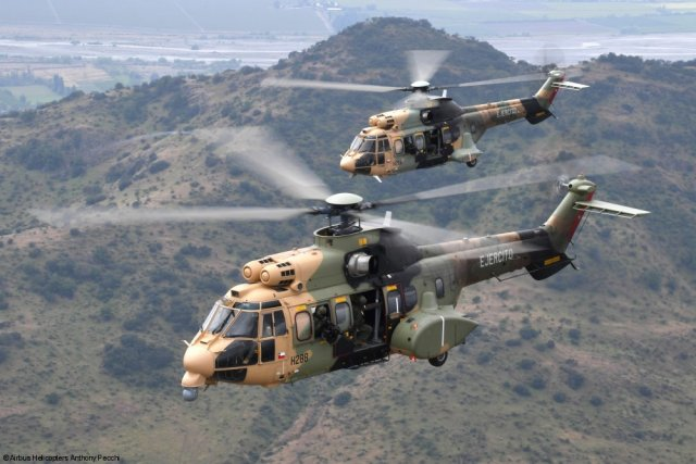 Chilean Army s Air Brigade receives final H215M helicopter 640 001
