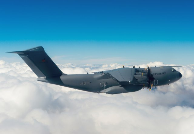 German Air Force receives first Tactical Standard A400M airlifter 640 001