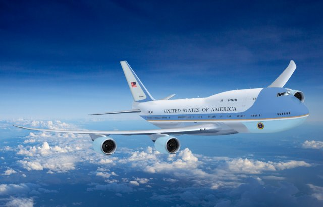 new air force one 747-800