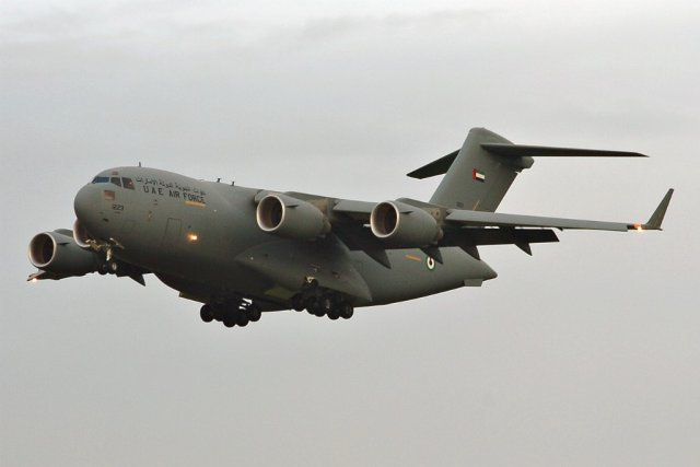 UAE orders LAIRCM countermeasures systems for its C 17 aircraft fleet 640 001