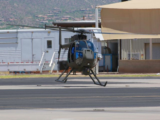 Boeing first production AH 6i Little Bird completes maiden fligh 640 001