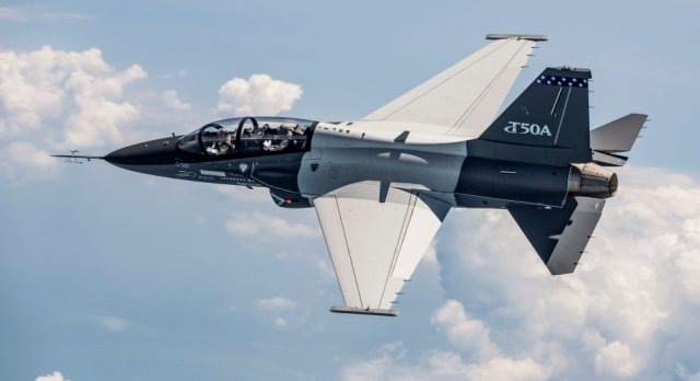 Lockheed KAI second T 50A jet trainer completed initial test flight 640 001