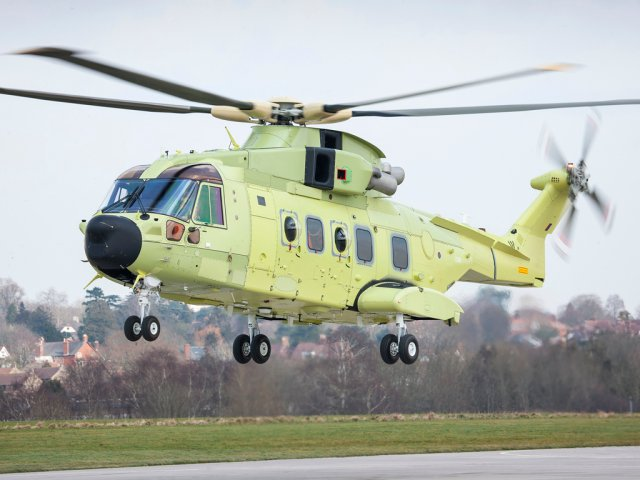 First Norway s AW101 SAR helicopter successfully took to the skies 640 001