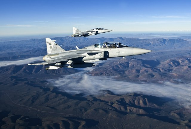 Saab secures 24 6 mn contract for South Africa s Gripen figher jets support 640 001