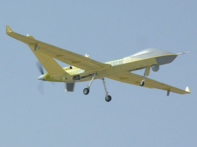 China homemade wing Loong II MALE UAS takes to the sk 640 001