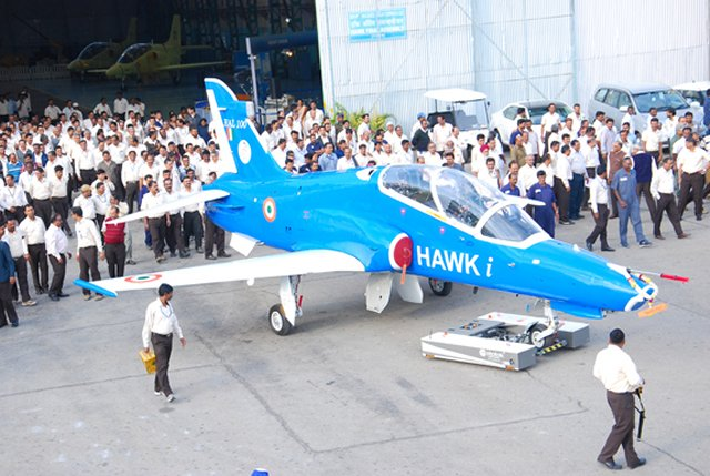 HAL rolls out first Indigenously upgraded Hawk Mk132 trainer aircraf 640 001