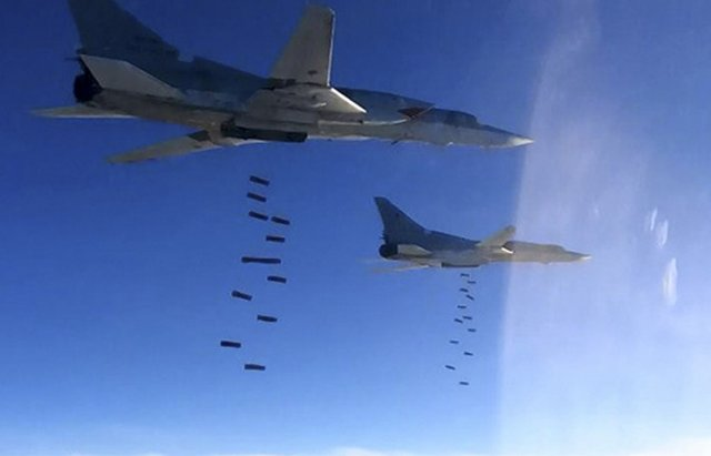 Russian Air Force s Tu 22M3 strategic bombers wipe out Daesh facilities in Syria 640 001