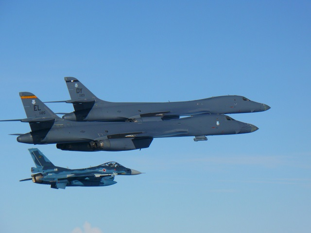 US Air Force B 1B Lancer North Korea ICBM