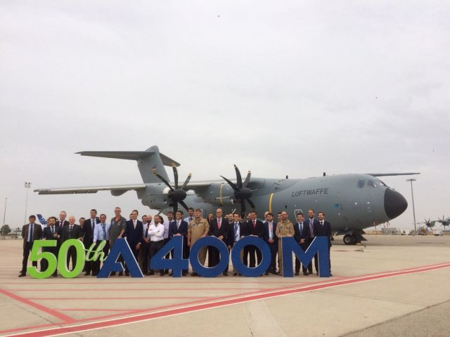 Airbus DS reaches ilestone with 50th 400M airlifter handover 640 001