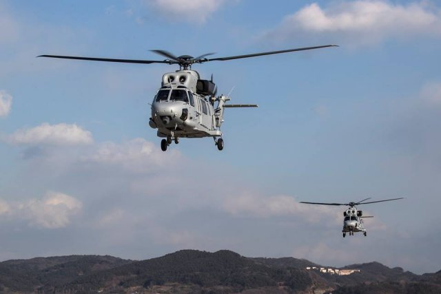 South Korea s Marine Corps receives first two MUH 1 Marineon choppers 640 001