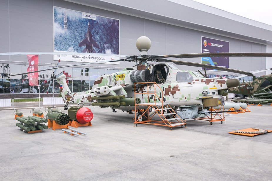 Mi-28NM attack helicopter