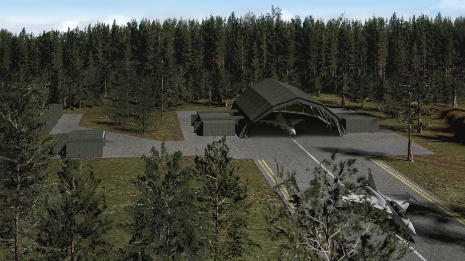 Hungary becomes launch customer for Saabs Deployable Aircraft Maintenance Facility 001