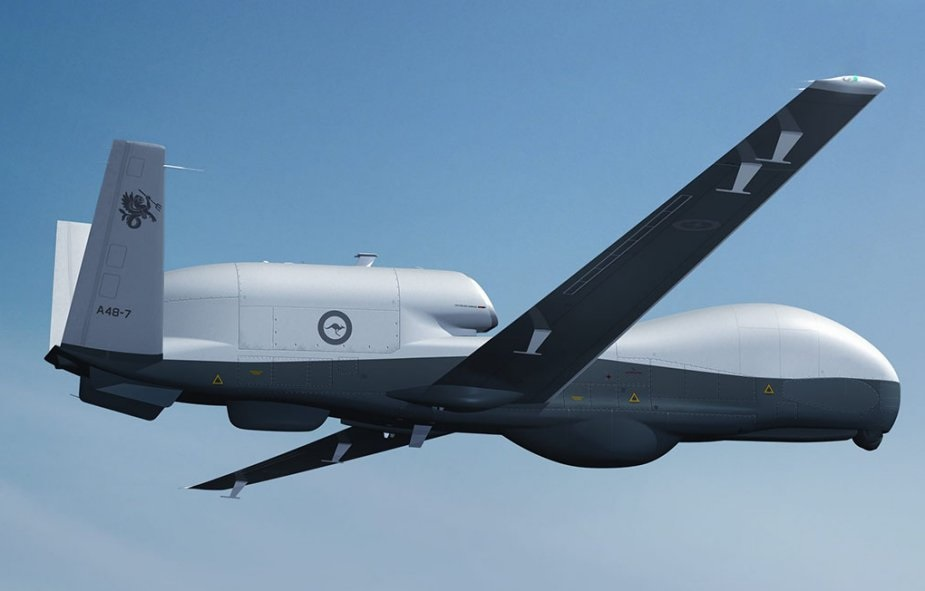 A US Navy MQ-4C Triton Unmanned Aircraft System takes off