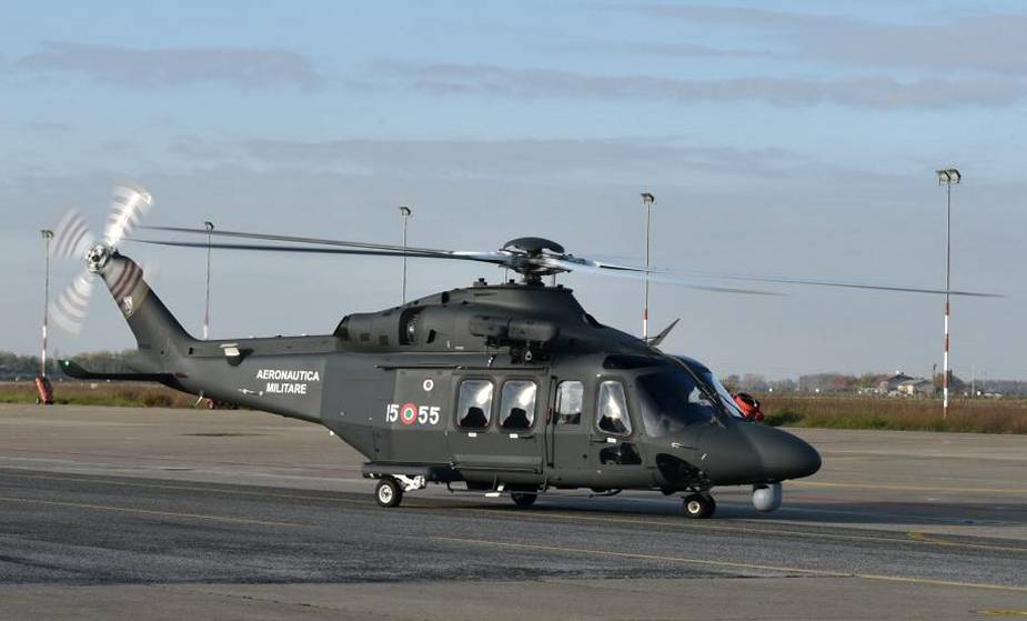 Italian Air Force receives first Leonardo HH 139B helicopter