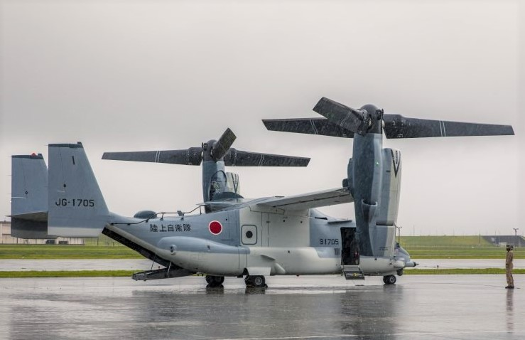 Japan Self Defense Force receives its first V 22 Osprey 1