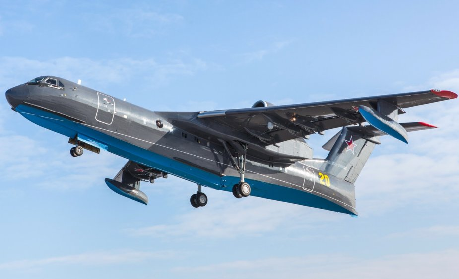 Russian Navy receives its first Be 200ES amphibious aircraft 925 002