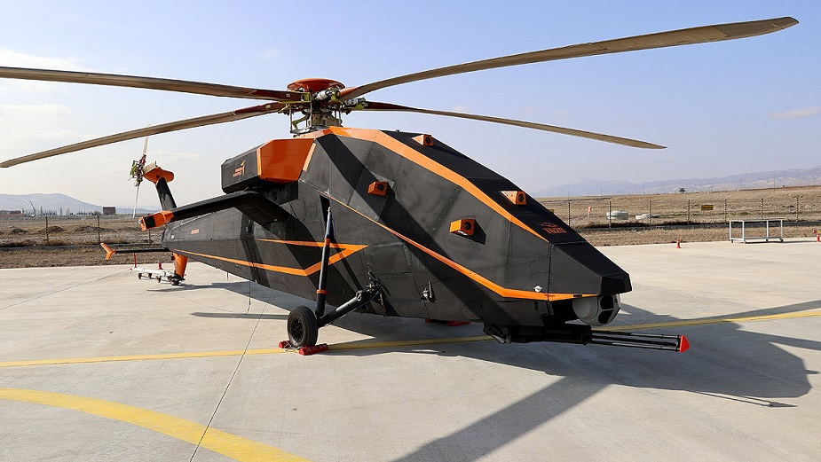 Turkish Aerospace Industries unveils T629 unmanned electric powered attack helicopter