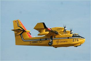 CL-415 Bombardier 415 amphibious aircraft water bomber technical data sheet specifications intelligence description information identification pictures photos images video Canada Canadian Air Force aerospace aviation defence industry military technology