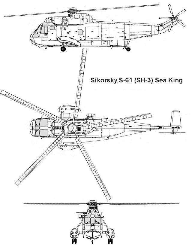 SH-3 Sea King S-61 Sikorsky anti-submarine warfare helicopter data sheet specifications intelligence description information identification pictures photos images video United States American US USAF Air Force Lockheed Martin aviation aerospace defence industry military technology